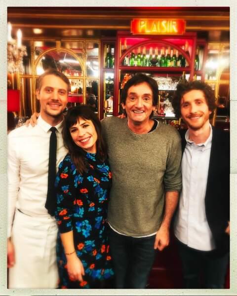 Joffrey Platel, Laetitia Vercken, Pierre Palmade et Baptiste Lecaplain travaillent sur une nouvelle fiction de M6 nommée Le Grand Restaurant