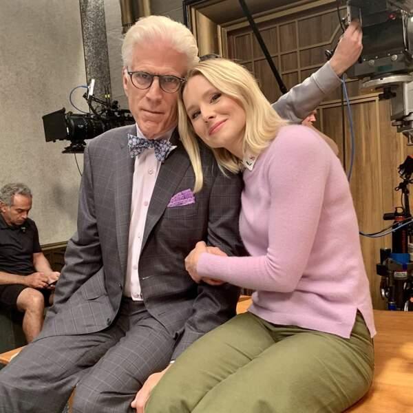 Nouvelle année, mais derniers moments ensemble pour Kristen Bell et Ted Danson sur le tournage de l'ultime saison 4 de The Good Place