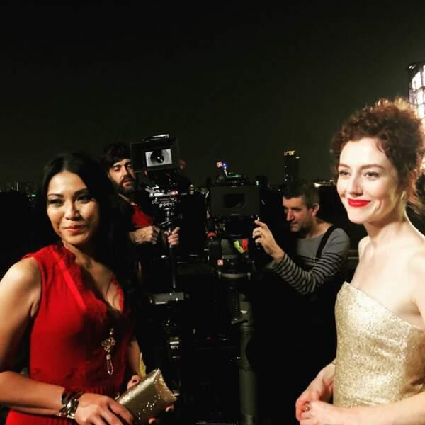 La comédienne est train de tourner un Coup de foudre pour TF1…