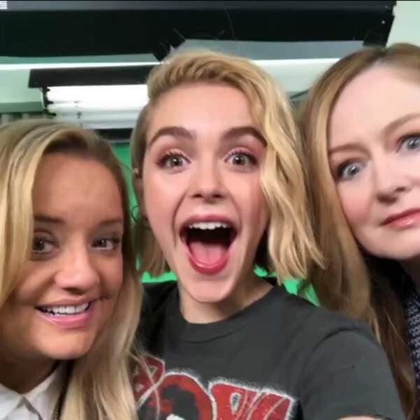 La bonne humeur est au rendez-vous pour Sabrina et ses deux tantes