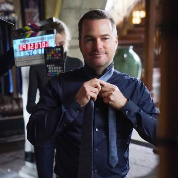 Chris O'Donnell se prépare pour un nouvel épisode de NCIS : Los Angeles