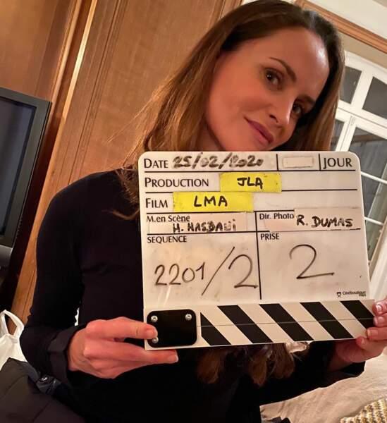 Carole Dechantre (Ingrid) vous dit bonjour sur le tournage des Mystères de l'amour