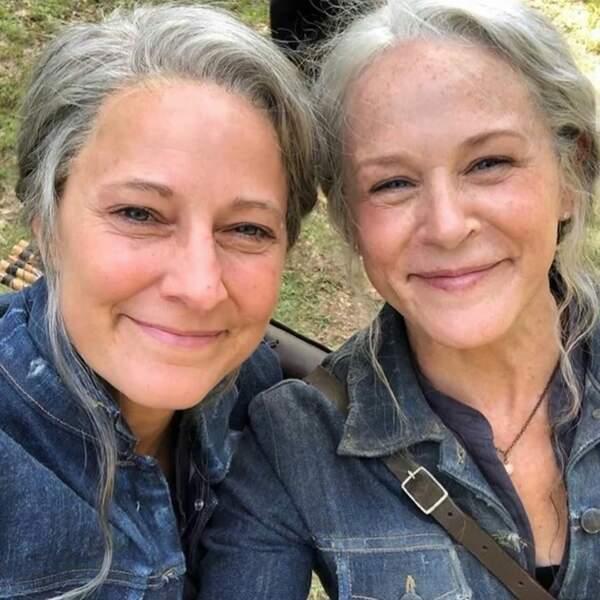 On voit double sur le tournage de The Walking Dead, avec Carol et sa doublure